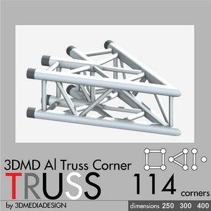 aluminum truss corner 3d model