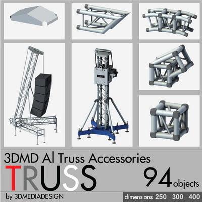 3DMD Aluminum Truss Accessories