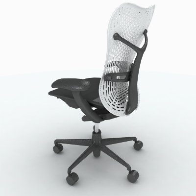 herman miller mirra chair 3d max