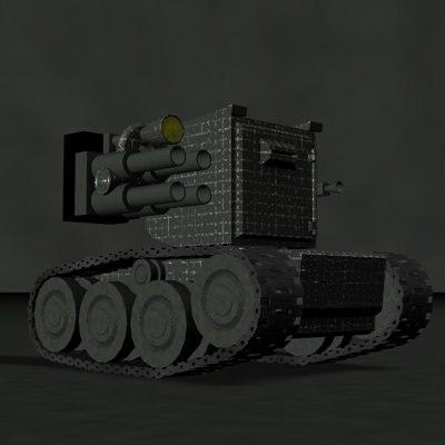 3d model little tank