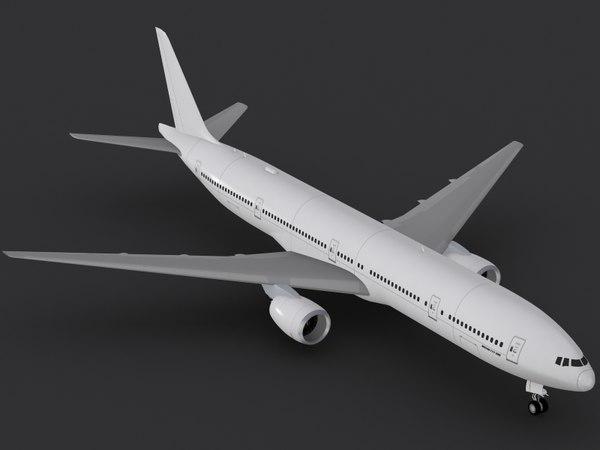 3d model b 777-300 er 777