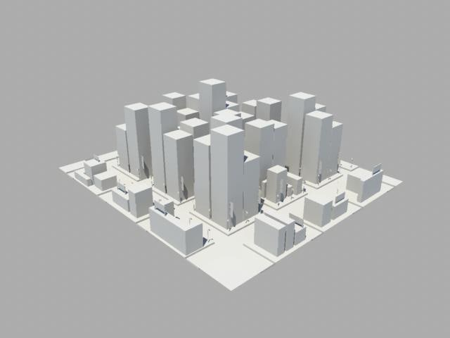 basic city 3d model