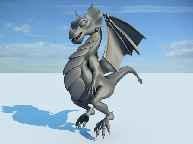 baby dragon rigged bone ma
