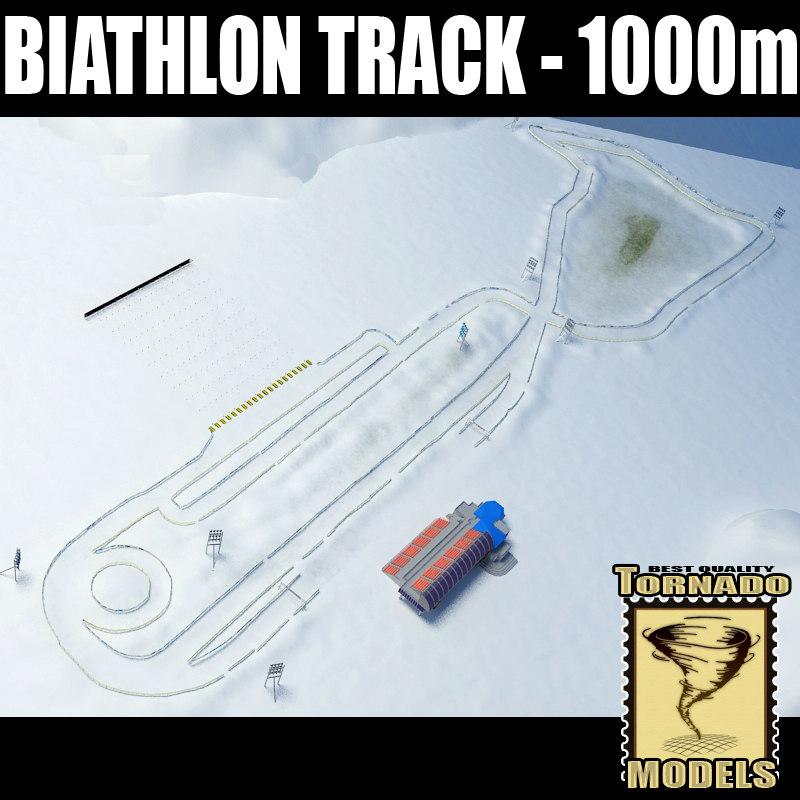 biathlon track - 1000m 3d model