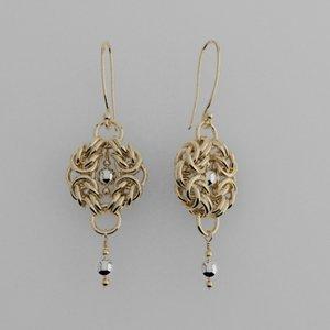 byzantine earrings s 3d model