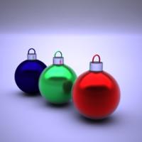 3d christmas balls model