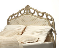 Classical bed with ottoman