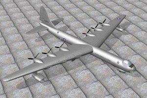 convair b36 bomber 3ds