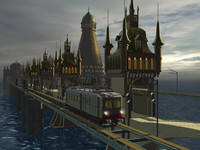 3d dark city