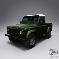 3d model land rover defender 90