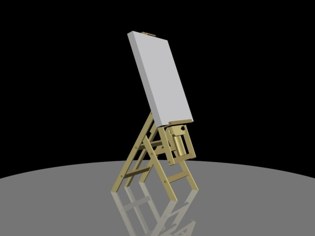 easel 3d 3ds
