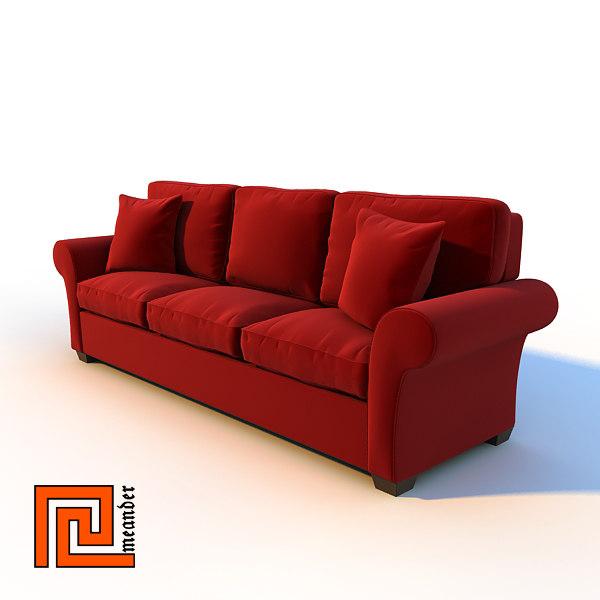 sofa interior 3d model