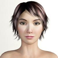 realistic woman 3d model