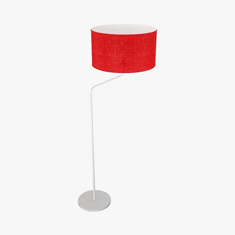 modern standing lamp 3d 3ds