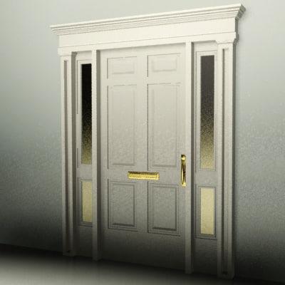 3d door house office model