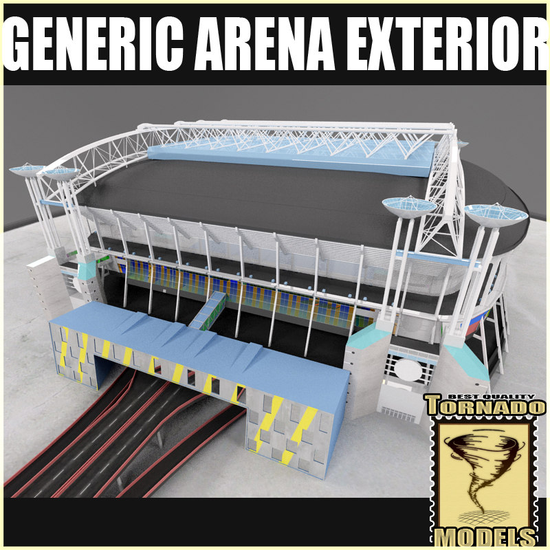 generic arena exterior 3d model