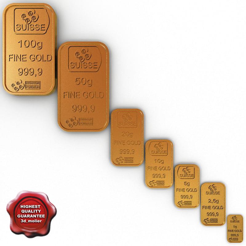 3dsmax gold ingots