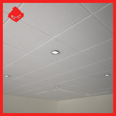 suspended ceiling lighting 3d model