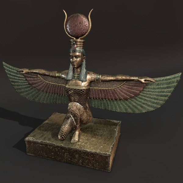 winged isis 3d c4d