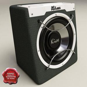 3d model kicx icq-300 black