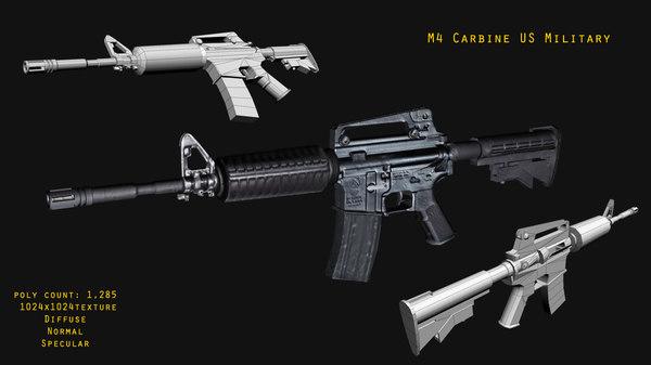 3d m4 carbine rifle