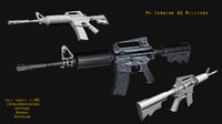 3d m4 carbine rifle