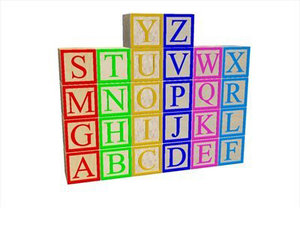 3ds max wooden children letter blocks