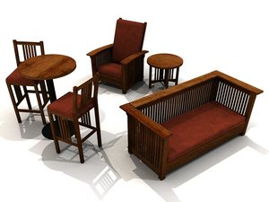 maya furniture mission style chair