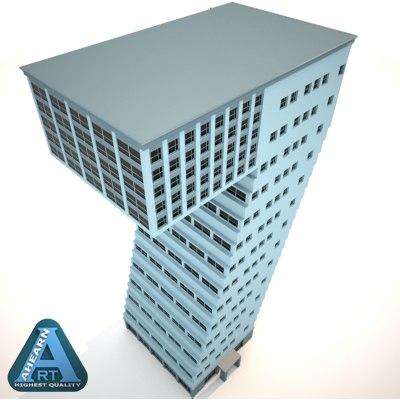 building shape number 7 c4d