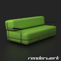 upholstered sofa c4d
