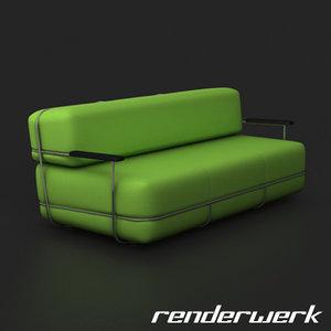 upholstered sofa c4d