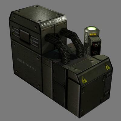 3d receiver sci-fi battery