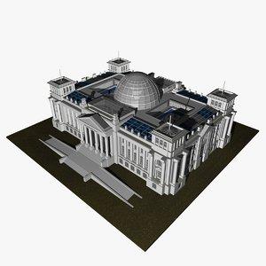 3d model parliament reichstag