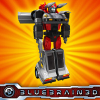 transforming robot car vehicle 3d 3ds