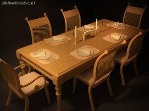 3ds shelton diner set 01