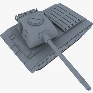 pose-able russian tank 3d max