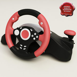 3d model usb steering wheel
