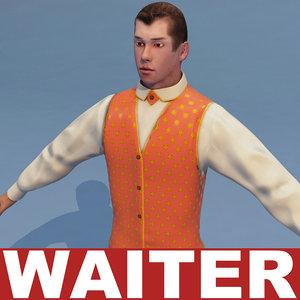 waiter games modelled 3d 3ds