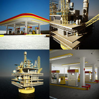 SPAR Oil Platform & Fuel Station