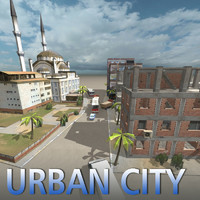 3d urban city middle east model