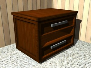 free low-poly bedstand 3d model