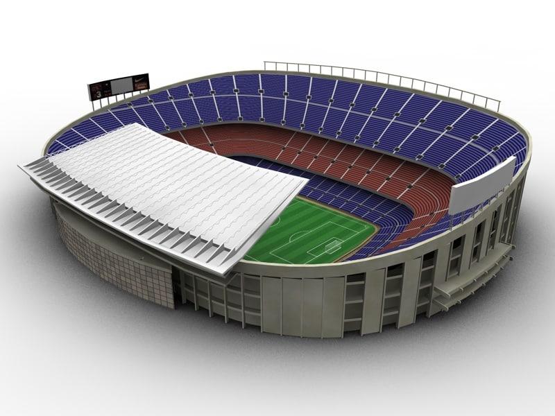 camp nou stadium obj