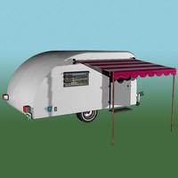 1960 vintage camper 3d model