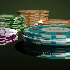 3d model of casino chip