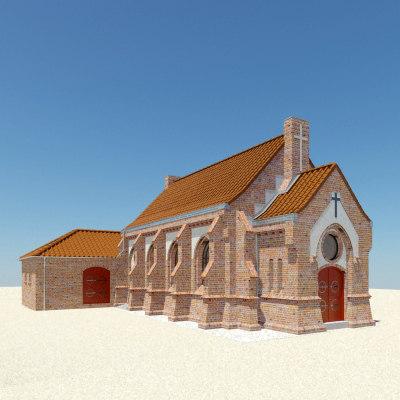 3d brick chapel