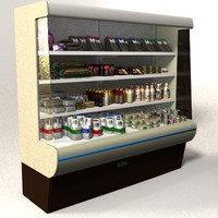 Shop Chiller Cabinet with contents
