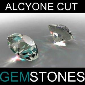 3ds max alcyone cut gem