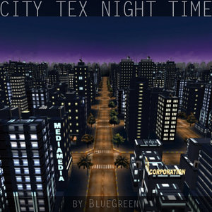 3d max city night time