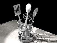 Kitchen utensils caddy