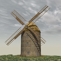 little windmill 3d model